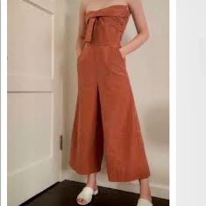 Greylin Gracie Bow-Tie Culotte Jumpsuit